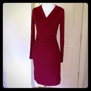 Deep Fuschia Ruched Dress